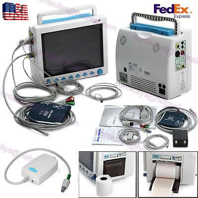 Usa Fedexfda Multi-parameter Cms8000 With Et-co2 Icu Patient Monitor Printer