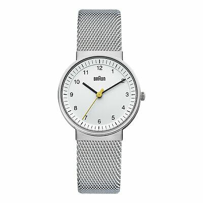 Braun Women's BN0031WHSLMHL Silver-Tone Watch with Mesh Stainless Steel band