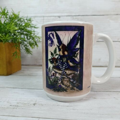 Amy Brown Mug with Fairy and Baby Dragon 4.5 Inches Tall - some scratches on ima