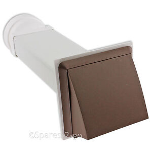 UNIVERSAL Wall Vent Kit Tumble Dryer Hose External Pipe Outlet Cover Brown 4