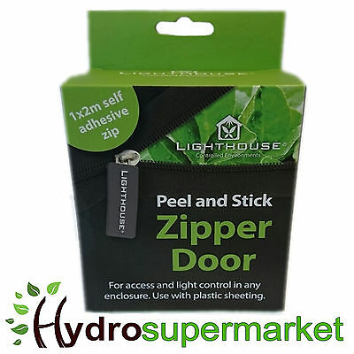 Door Zip 2m Self Adhesive Peel N Stick Mylar Grow Tent