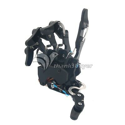 Five Fingers Mechanical Claw Clamper Gripper Arm Right Hand Servos Assembled