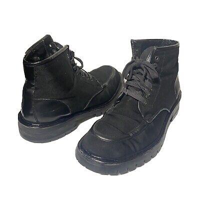 Gucci Boots Mens Size 10.5 Vintage Black Lace Up