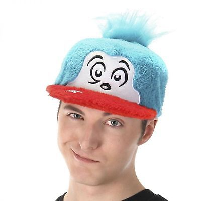 Dr. Seuss Official Cat The Hat Thing One Fuzzy Cap Costume Accessory - Kids Dr Seuss Costume