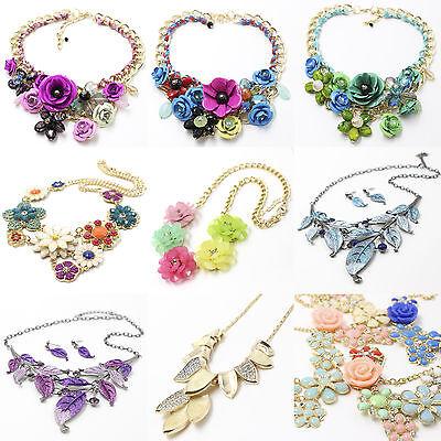 Kette Halskette Gliederkette Statementkette vintage Acryl Metal für Abendkleid