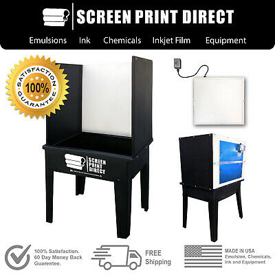 Ecotex Screen Printing Equipment - Washout Booth Tank With L.e.d Back Light