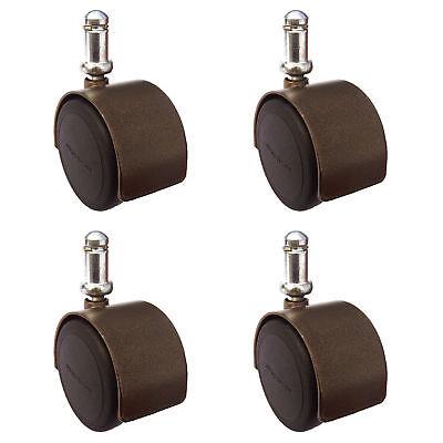 2 Office Chair Casters - Windsor Antique Brass Finish - Hardwood Safe Set Of 4