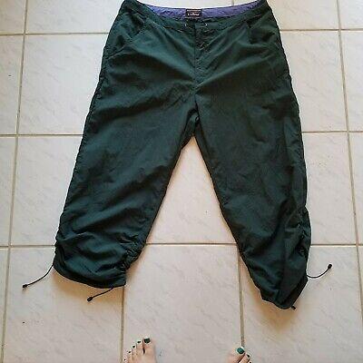 L.L. Bean Athletic pants capri Green size 16 outdoor wear