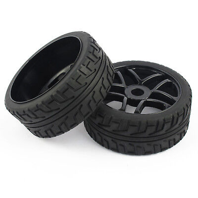 NEW 4Pcs 1:8 RC Buggy Tires Hex 17mm Wheels for On Road RC Car -