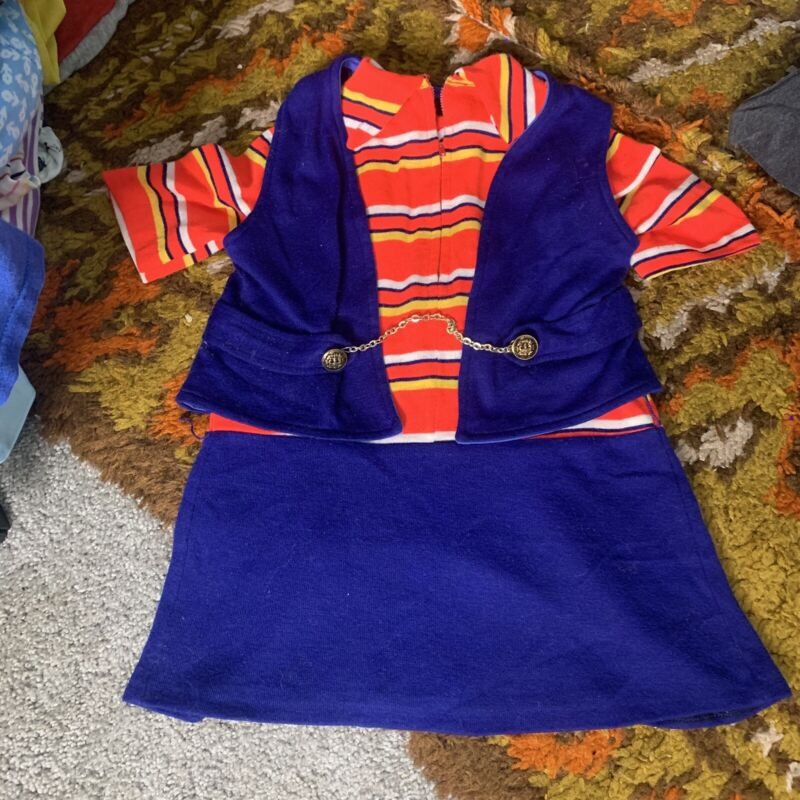 70s Neon Toddler Polyester Dress