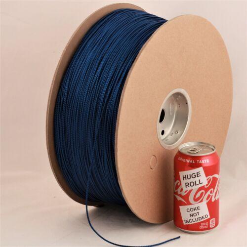 BULK LOT Blue Metallic #02 Needloft Nylon Craft Cord - 4,500 feet! USA