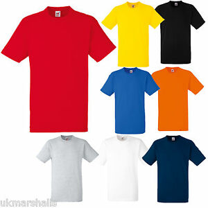 GENIUNE-FRUIT-OF-THE-LOOM-HEAVY-COTTON-T-SHIRT-S-XXL