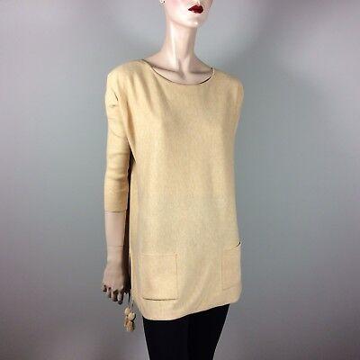 LILLY PULITZER Palm Beach Damen Pullover S 36 38 Gelb Weit Top Luxus Designer  Palm Pullover
