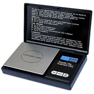 100g x 0.01g LCD Digital Pocket Scale Jewelry Gold Gram Precision Weight Scale