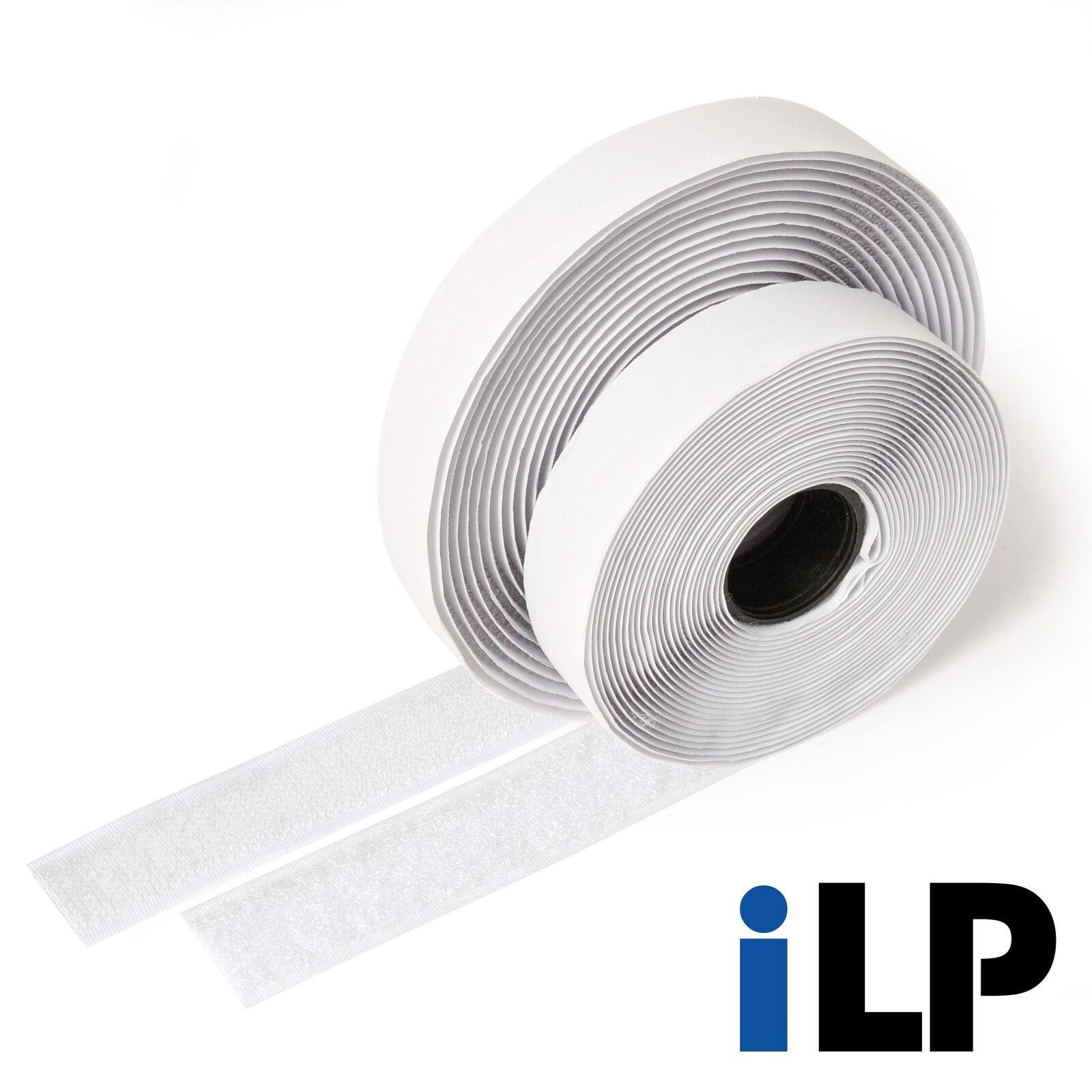 Klettband weiß selbstklebend 5 Meter lang ca. 20 mm breit extra starke Fixierung