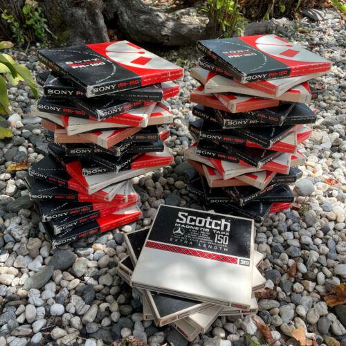 Sony PR-150 reel-to-reel tapes (4 lots of 8 each)