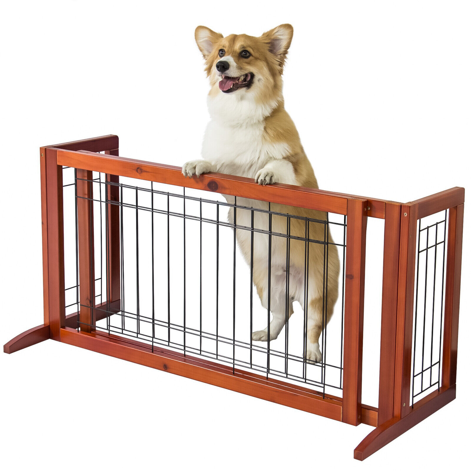 Dog Gates Extra Wide for the House Baby Indoor Stairs Doorwa