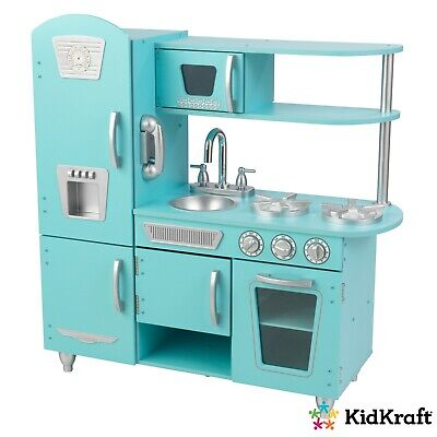 Vintage Play Kitchen with Working Knobs and Doors - Blue by KidKraft