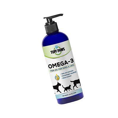 NEW PREMIUM OMEGA 3 Fish Oil Liquid Supplement with VITAMIN E for Dogs & Cats...