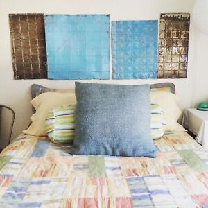 Queen coverlet/quilt with matching shams