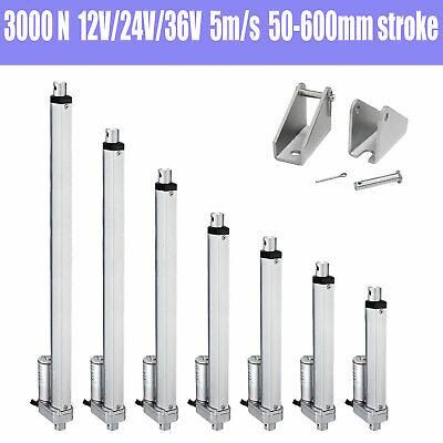 3000n Electric Linear Actuator Cylinder Lift Stroke 50-600mm Dc12v 24v 36v 5mms
