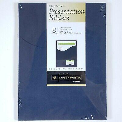 8 Pack Southworth Executive Single Pocket Presentation Folders 9x12 Neenah