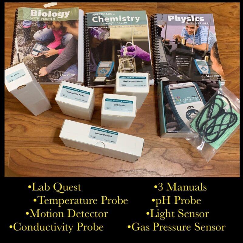 Lab Quest Vernier Unit Temperature pH Conductivity Tester Probe Gas Pressure