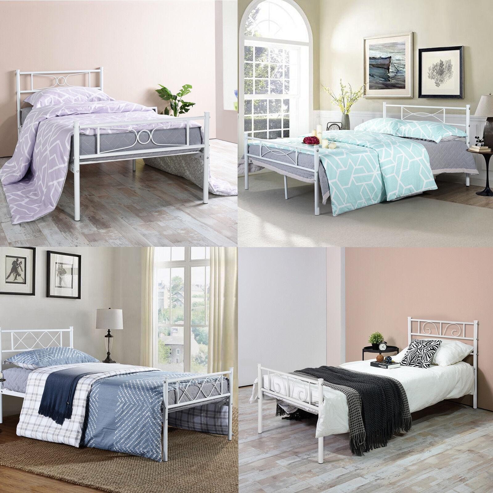 Twin Full Queen Size Platform Metal Bed Frame Bedroom Founda