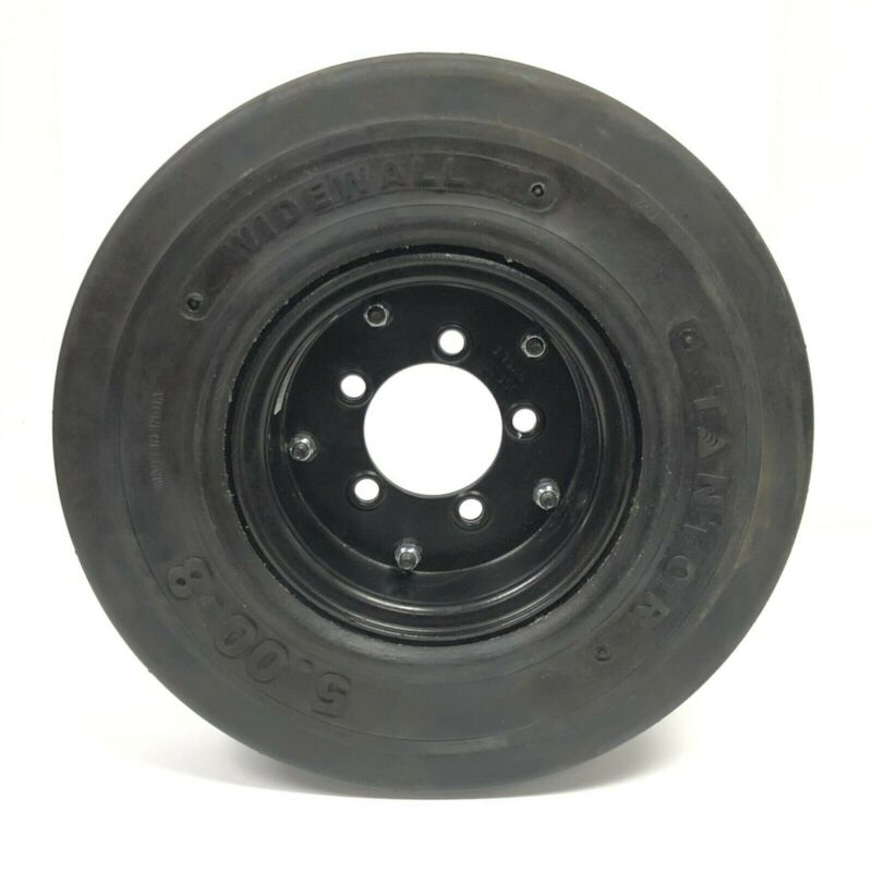 TANTOR 5.00-8 Widewall Forklift Tire on 3.75x8 2DC350 Rim New Spare