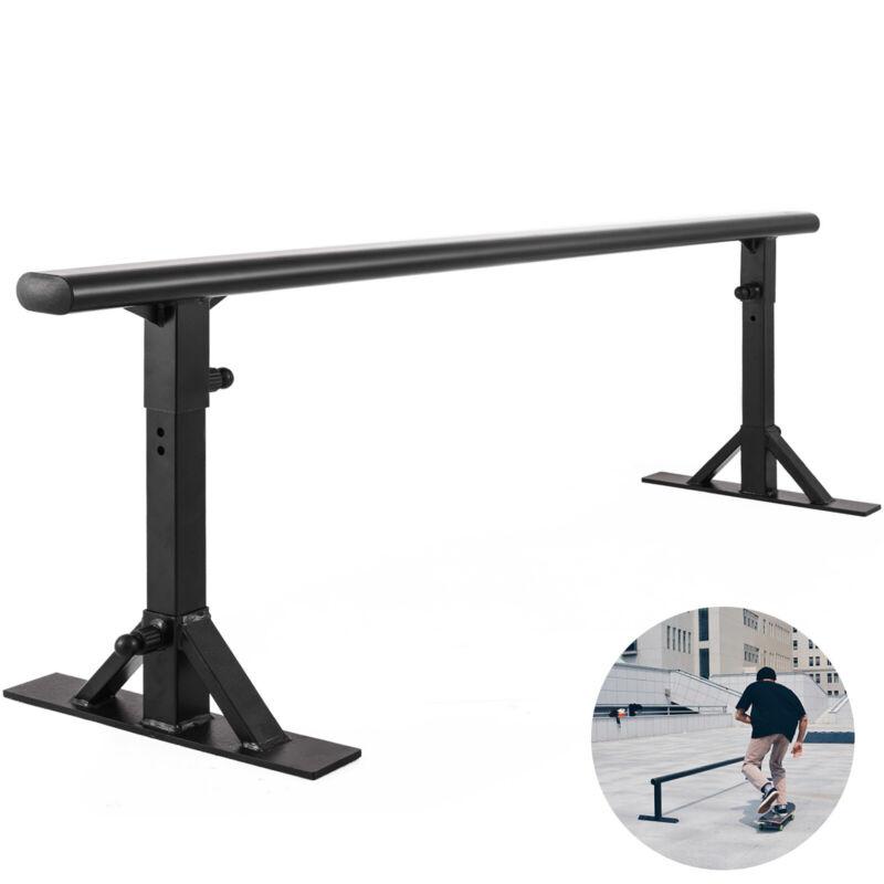 """Skateboarding Grind Rail Driveway Skatepark Rail 70""""L Adjustable For Scooters"""