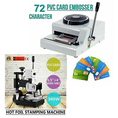 72 Character Manual Embosser Machinehot Foil Stamping Printing Machine Pvc Card