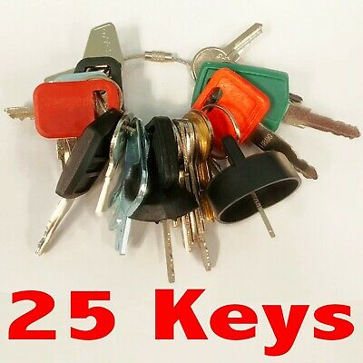 Heavy Equipment Machines Construction Equipment Master Ignition 25 Keys Key Set