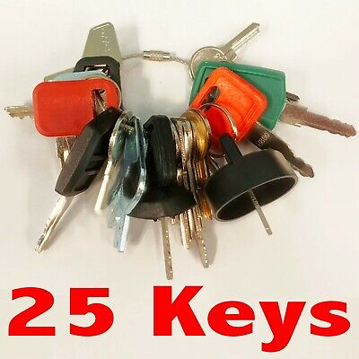 Heavy Equipment Machines Construction Equipment Master Ignition 25 Keys Key Set