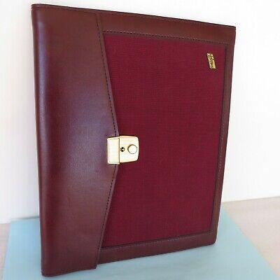 Hazel Portfolio Note Pad Folio Cover 12.30 X 10 Burgundy Faux Leatherfabric