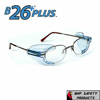 B26+ SIDE SHIELDS FOR RX GLASSES SAFETY EYEWEAR EYE PROTECTION ANSI (Glasses Shields)