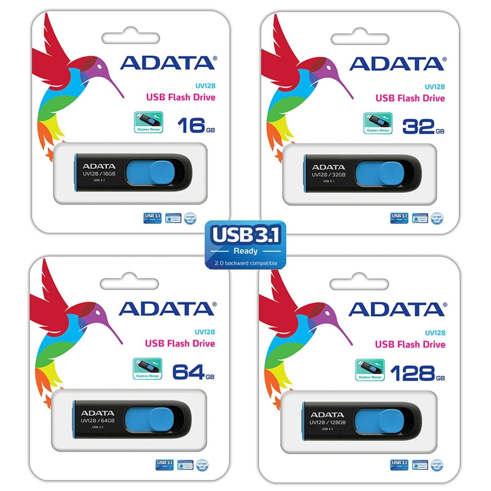 128 GB 64 GB 32 GB 16 GB USB 3.1 Pen Thumb USB Drive Memory