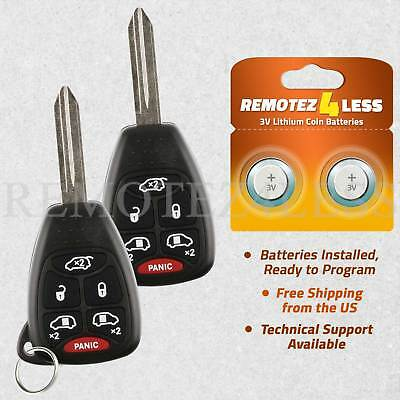 Dodge Keyless Entry Remote - 2 For 2004 2005 2006 2007 Dodge Grand Caravan Keyless Entry Remote Car Key Fob