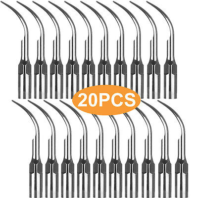 20pcs Dental Ultrasonic Scaler Perio Scaling Tip Gd1 Fit Satelecdte Handpiece