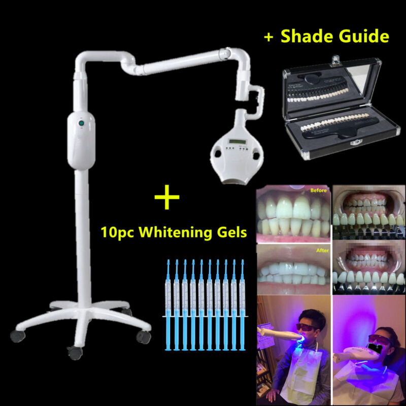 CICADA Dental LED Teeth Whitening Light Bleaching Machine Lamp Gels Shade Guide