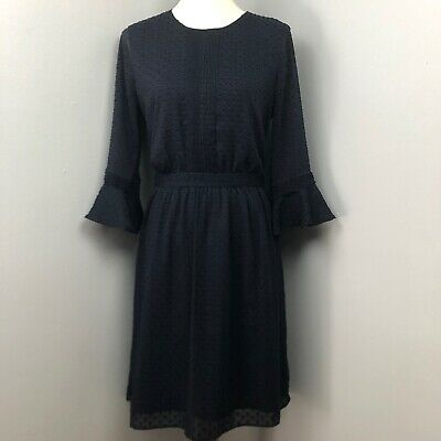 Banana Republic Navy Textured Dress Size 8