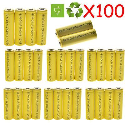 Lot AA Rechargeable Battery NiCd 2800mAh 1.2v Garden Solar Ni-Cd Light LED Aa Solar Rechargeable Battery