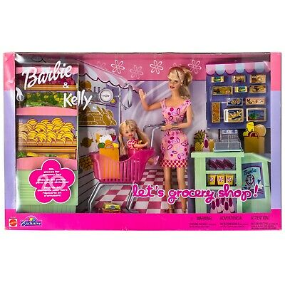 Barbie & Kelly Dolls Let's Grocery Shop! Toys R Us Exclusive 2002 NRFB 56145