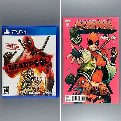 Deadpool for Playstation 4 PS4 Unsealed Open with BONUS DEADPOOL COMIC VARIANT
