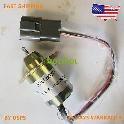 M810324 Fuel Shutoff Stop Solenoid Fits John Deere Tractor 4200 4300 4600 4700