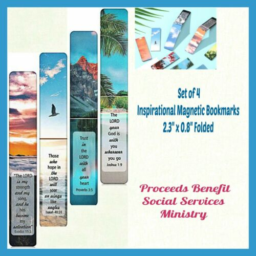 Inspirational Christian Magnetic Bookmarks Set of 4