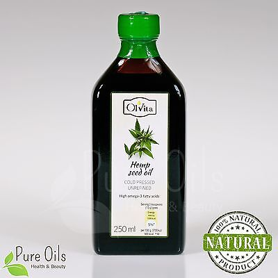 Hemp seed / cannabis seed oil, cold-pressed and crude Ol'Vita 250 ml