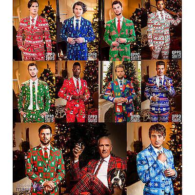 Festive Costume (*Mens Deluxe Festive Novelty Christmas Opposuit Fancy Dress Costume Outfit)