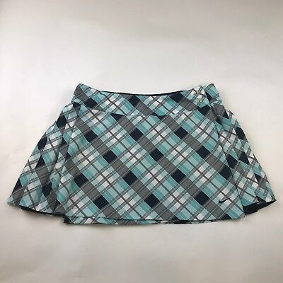 2aa75b748 Nike Womens Navy & Plaid Reversible Pleated Wrap Tennis Skirt Size M