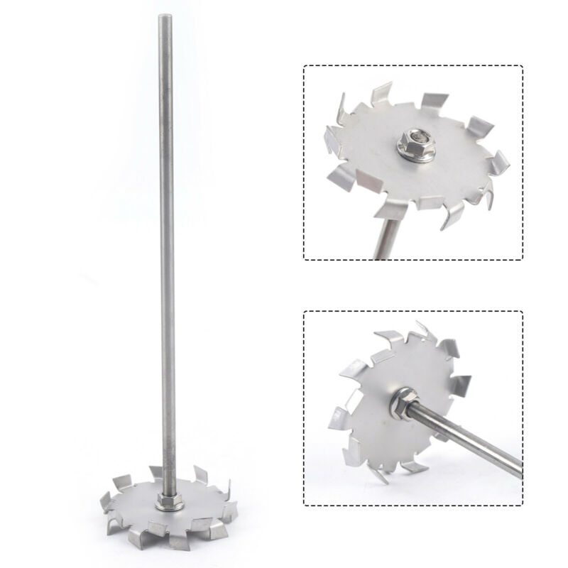 Stainless Steel Dispersing Disc Blade Paddle Impeller For Pigments Dyestuffs