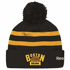 BOSTON BRUINS 2016 NHL WINTER CLASSIC REEBOK CUFFED POM KNIT HAT TOQUE